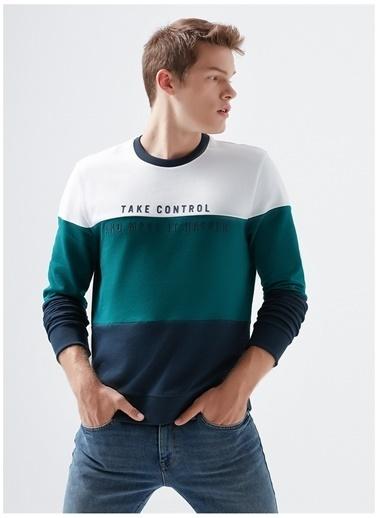 Mavi Mavi Beyaz Baskılı Sweatshirt Beyaz